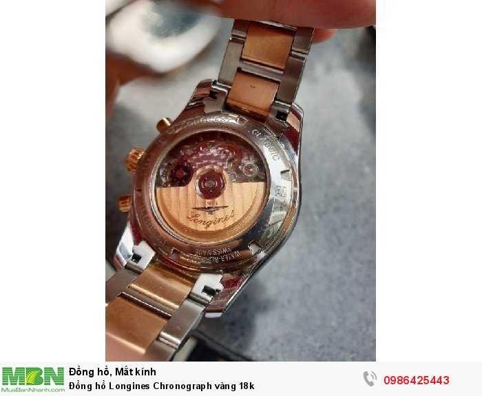 Đồng hồ Longines Chronograph vàng 18k