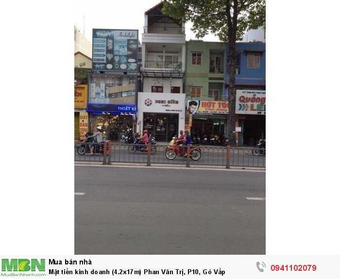 Mặt tiền kinh doanh (4.2x17m) Phan Văn Trị, P10, Gò Vấp
