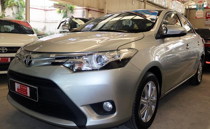 Bán xe Vios G sx 2014 màu bạc, góp 70%, giá còn giảm