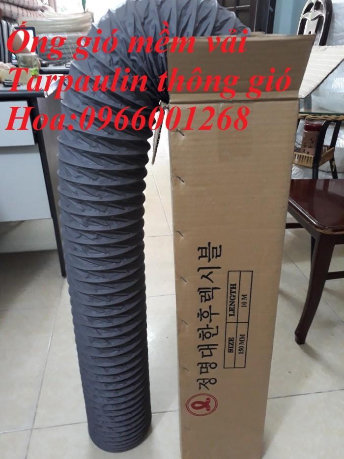 Ống gió mềm vải Tarpaulin - Fiber phi 200, phi 250, phi 300 và các loại khác3