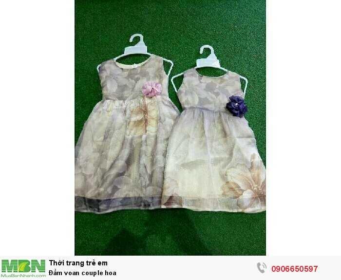 Đầm voan couple hoa0