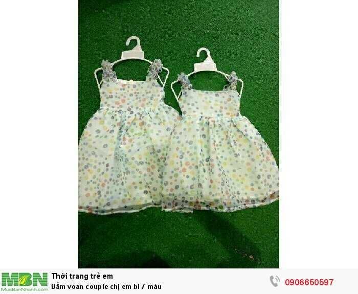 Đầm voan couple chị em bi 7 màu0