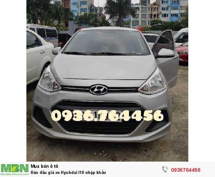 Bán đấu giá xe Hyubdai I10 nhập khẩu