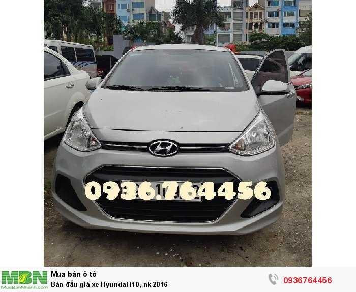 Bán đấu giá xe Hyundai I10, nk 2016