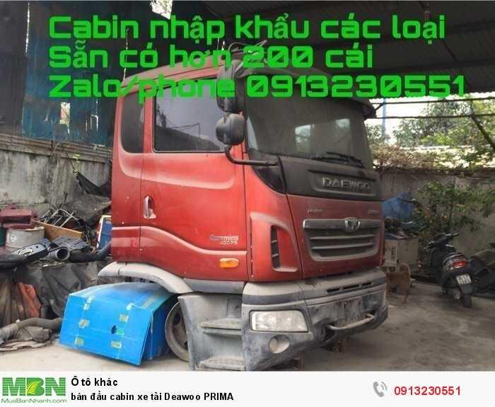 bán đầu cabin xe tải Deawoo PRIMA