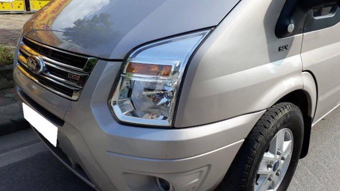 Bán Ford Transit 2018 máy dầu bảng giữa mâm đúc màu bạc xe zin cọp.