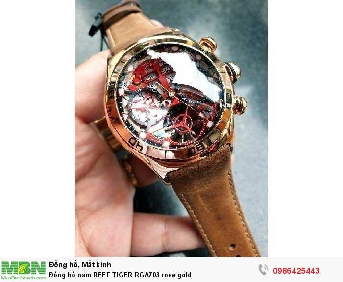 Đồng hồ nam REEF TIGER RGA703 rose gold0