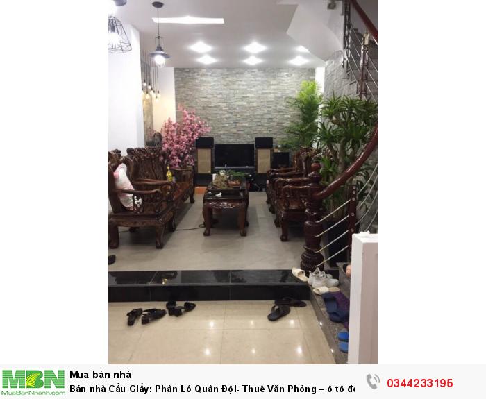 Bán nhà Cầu Giấy: Phân Lô Quân Đội- Thuê Văn Phòng – ô tô đỗ sát cửa 47m*5 tầng.