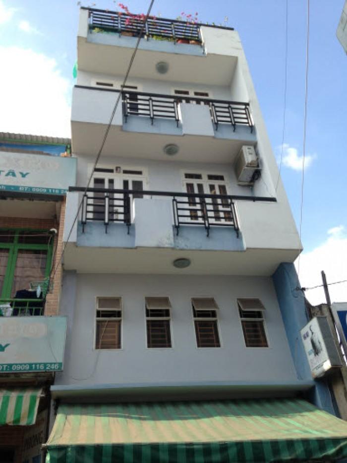 Nhà đường Nguyễn Khoái. Q.4. 1 trệt 4 lầu,198.5m2, ngang 6.5m. Giá 3.3 tỷ