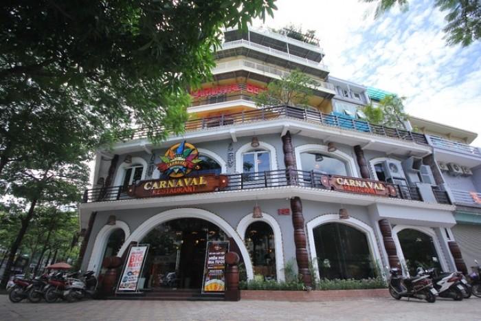 Cho thuê nhà làm nhà hàng mặt phố Trung Hòa: 250m, mặt tiền 25m.