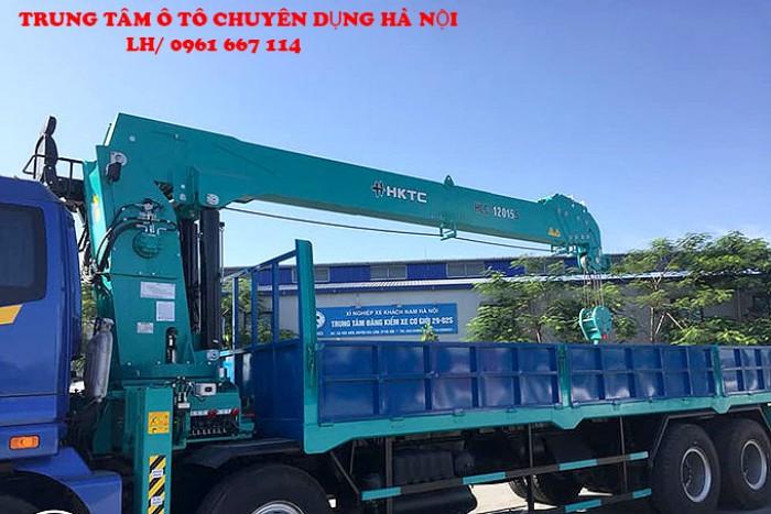 Thaco Auman C300(8x4) gắn cẩu 12 tấn HKTC model HLC-1205S | Hỗ trợ khách hàng mua xe trả góp