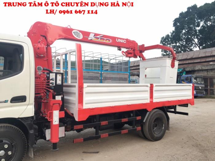HINO XZU650L gắn cẩu 2 tấn UNIC model URV234   Giá tốt nhất   Hỗ trợ khách hàng mua xe trả góp