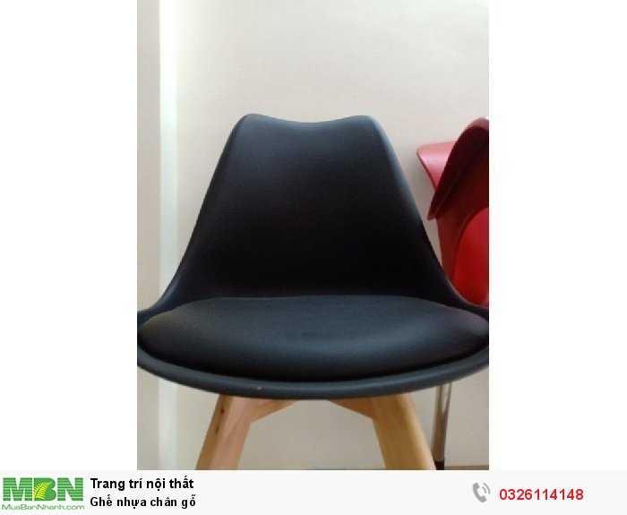 Ghế nhựa chân gỗ0