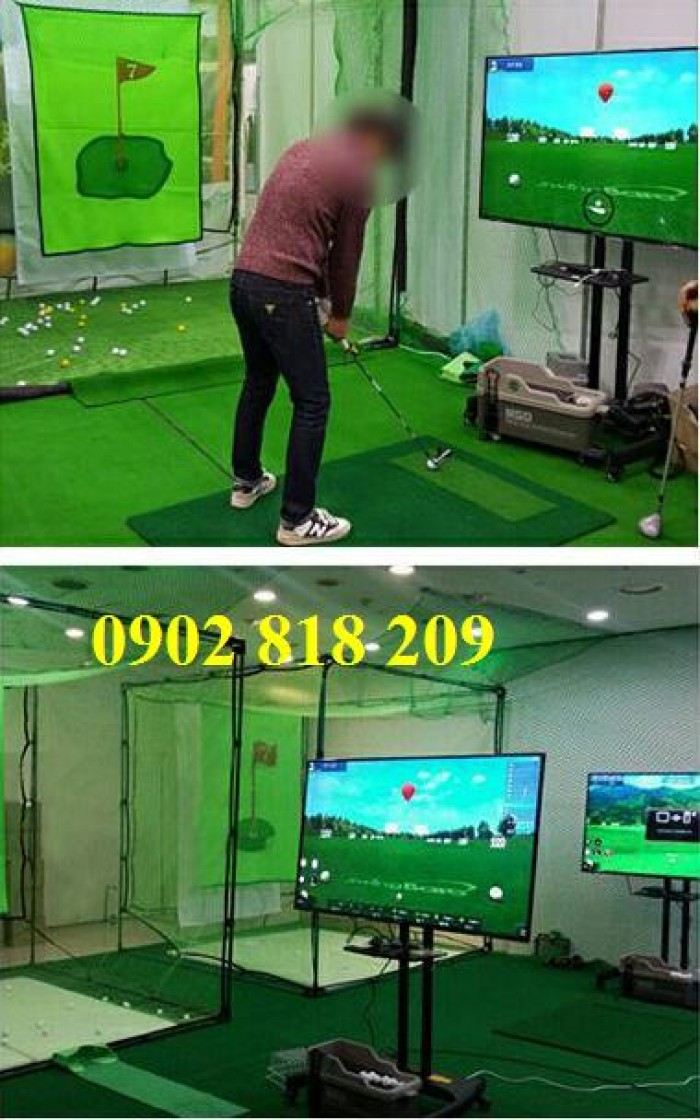 Thiết bị chơi golf 3D mini không cần thi công0