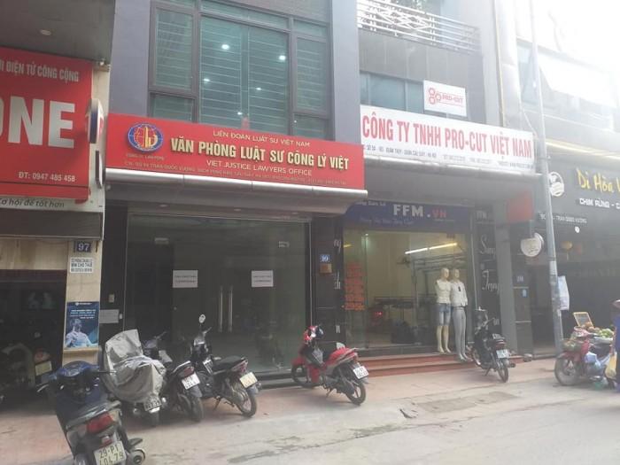 Cho thuê mặt phố Vọng, HBT:  68tr/th,  100m2, mt  5m,  6 tầng. Ngân hàng,  Spa cao cấp.