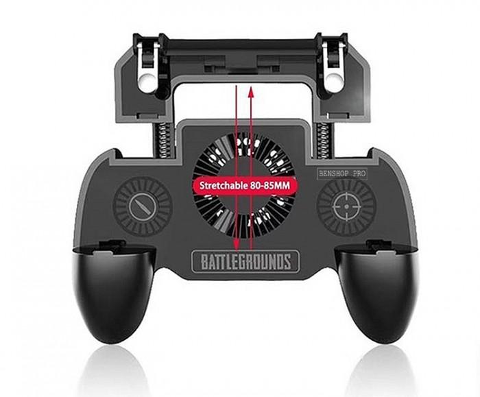 Tay cầm chơi game PUBG cao cấp tích hợp quạt tản nhiệt và sạc dự phòng cho điện thoại SR2 (4000mAh)15