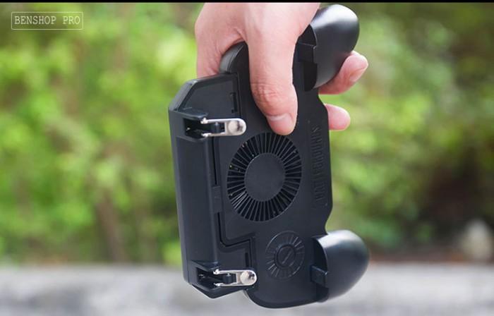 Tay cầm chơi game PUBG cao cấp tích hợp quạt tản nhiệt và sạc dự phòng cho điện thoại SR2 (4000mAh)11