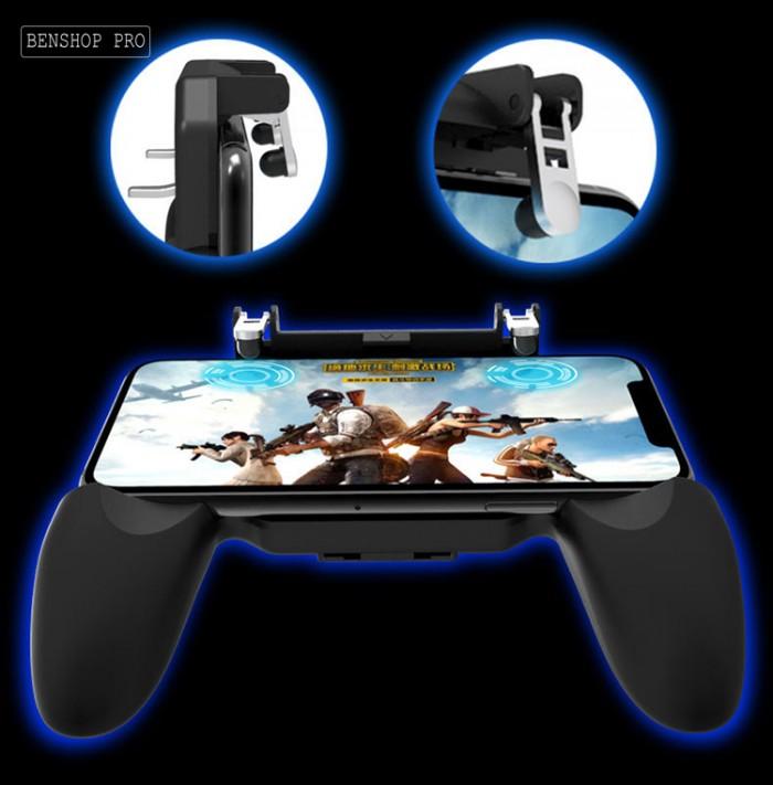 Tay cầm chơi game PUBG cao cấp tích hợp quạt tản nhiệt và sạc dự phòng cho điện thoại SR2 (4000mAh)8