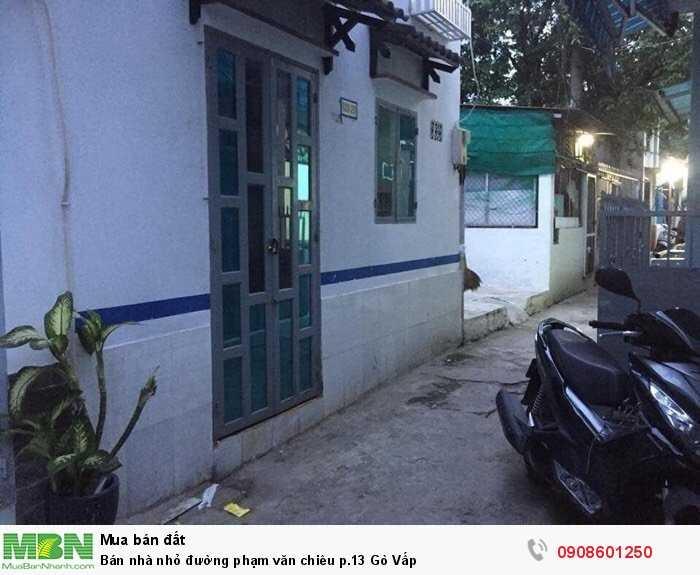 Bán nhà nhỏ đường phạm văn chiêu p.13 Gò Vấp