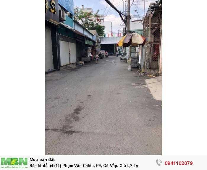 Bán lô đất (4x14) Phạm Văn Chiêu, P9, Gò Vấp. Giá 4,2 Tỷ