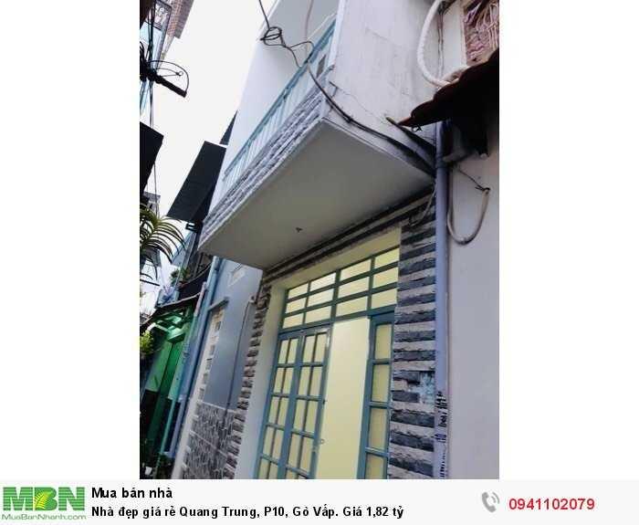 Nhà đẹp giá rẻ Quang Trung, P10, Gò Vấp. Giá 1,82 tỷ