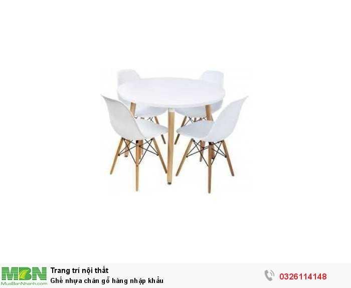 Ghế nhựa chân gỗ hàng nhập khẩu