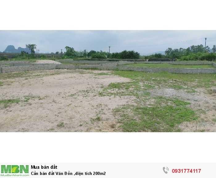 Cần bán đất Vân Đồn ,diện tích 200m2