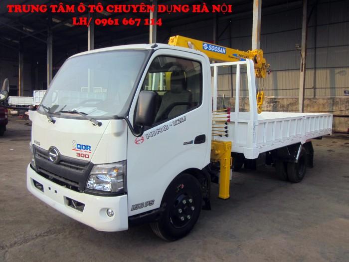 HINO XZU720L gắn cẩu 2 tấn SOOSAN model SCS263 | Giá siêu khuyến mại | Hỗ trợ trả góp lãi xuất thấp 1