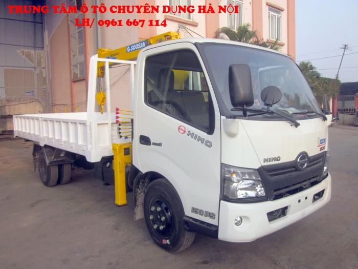 HINO XZU720L gắn cẩu 2 tấn SOOSAN model SCS263 | Giá siêu khuyến mại | Hỗ trợ trả góp lãi xuất thấp