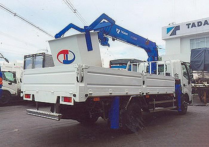 HINO XZU720L gắn cẩu 3 tấn TADANO model TM-ZE304MH | Giá siêu khuyến mãi | Hỗ trợ mua trả góp