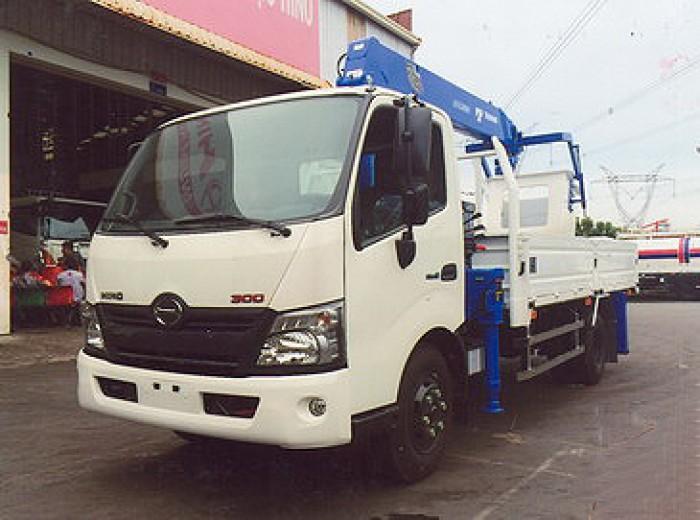 HINO XZU720L gắn cẩu 3 tấn TADANO model TM-ZE304MH | Giá siêu khuyến mãi | Hỗ trợ mua trả góp 1