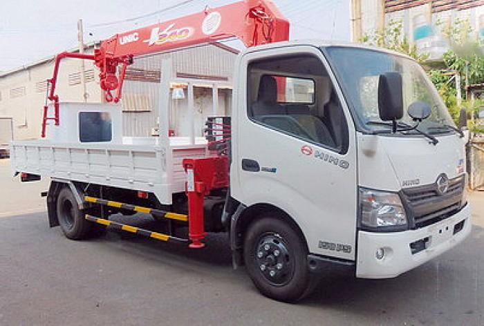 Xe tải 5 tấn HINO XZU72L gắn cẩu 3 tấn UNIC model URV345 | Khuyến mãi thuế trước bạ 2% giá trị xe 1