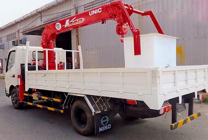 Xe tải 5 tấn HINO XZU72L gắn cẩu 3 tấn UNIC model URV345 | Khuyến mãi thuế trước bạ 2% giá trị xe