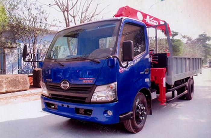 HINO XZU730L gắn cẩu 3 tấn UNIC model URV344 | Hỗ trợ khách hàng mua xe trả góp 90% giá trị xe 2