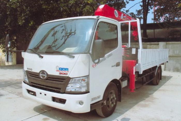 HINO XZU730L gắn cẩu 3 tấn UNIC model URV344 | Hỗ trợ khách hàng mua xe trả góp 90% giá trị xe
