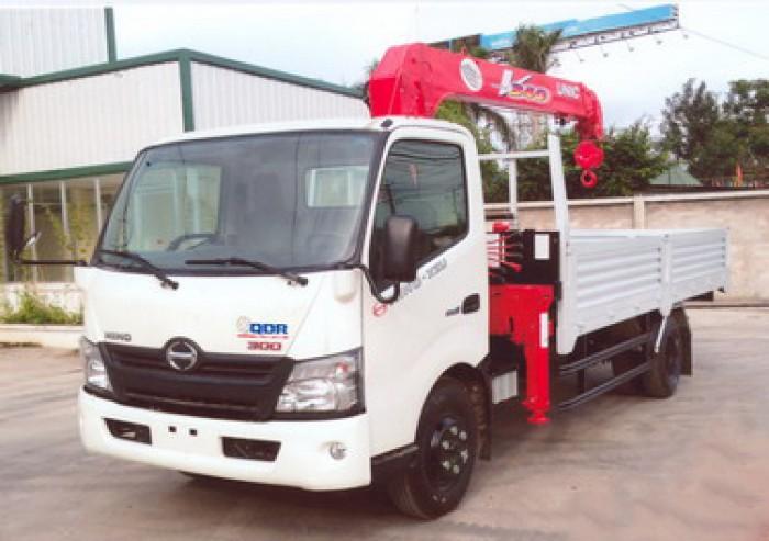 HINO XZU730L gắn cẩu 3 tấn UNIC model URV345 | Khuyến mại thuế trước bạ 2% |Hỗ trợ mua xe trả góp