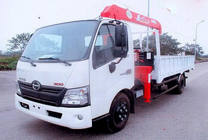 HINO XZU730L gắn cẩu 3 tấn UNIC model URV343 | Giá siêu khuyến mãi | Trả trước 10% giao xe ngay