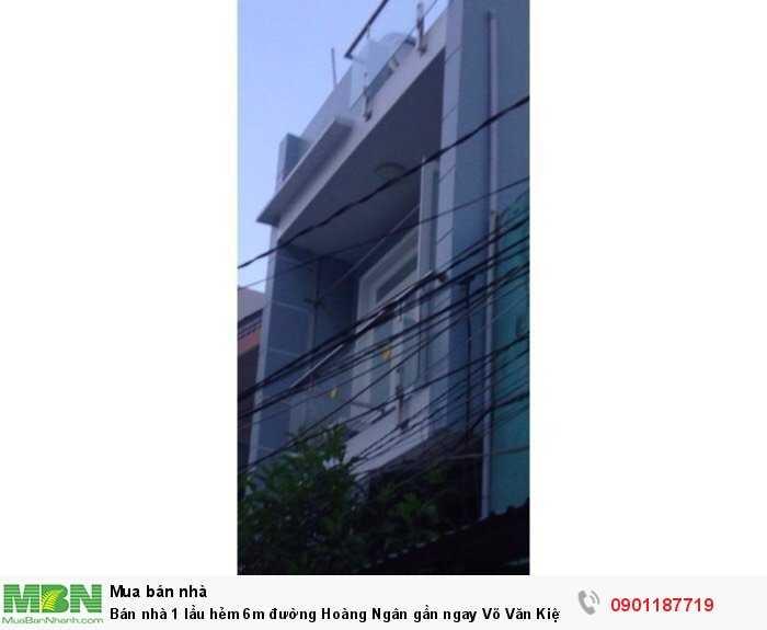 Bán nhà 1 lầu hẻm 6m đường Hoàng Ngân gần ngay Võ Văn Kiệt P16 Q8