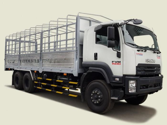 Xe tải Isuzu 15 tấn thùng mui bạt - FVM34TE4, thùng dài 7m66
