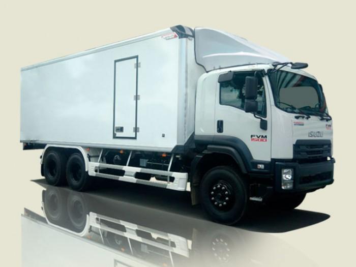 Xe tải Isuzu 15 tấn thùng bảo ôn - FVM34TE4, thùng dài 7m66 0