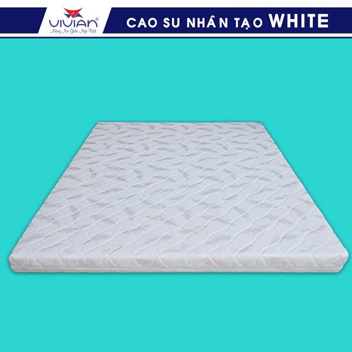 Nệm cao su nhân tạo VIVIAN WHITE BH-5N - 1m6x2mx10cm2