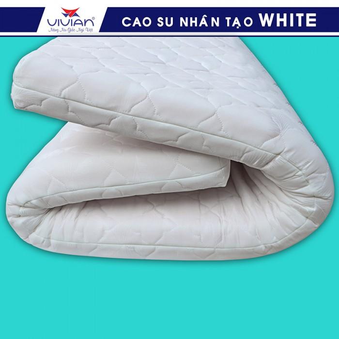 Nệm cao su nhân tạo VIVIAN WHITE BH-5N - 1m6x2mx10cm1