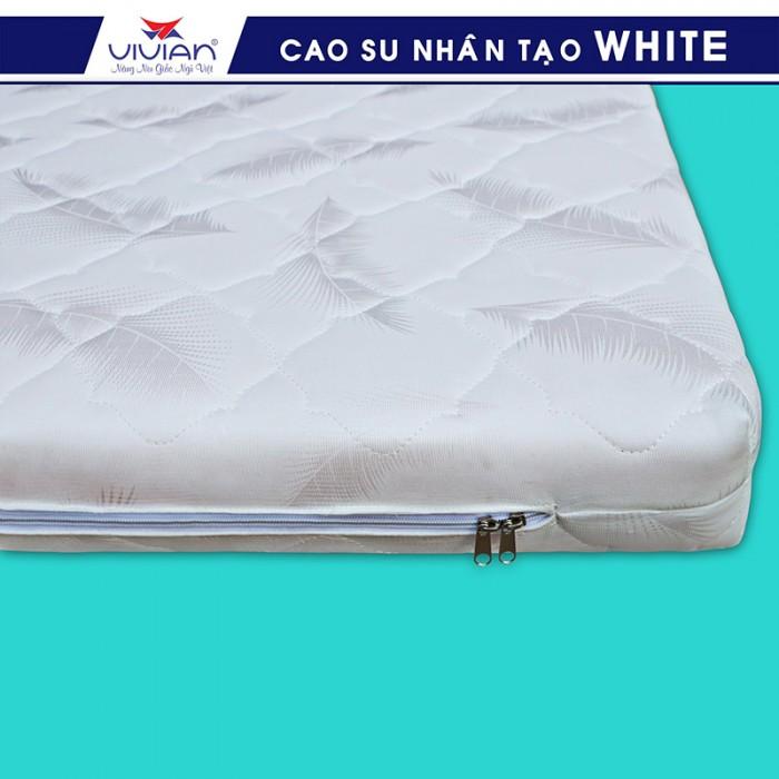 Nệm cao su nhân tạo VIVIAN WHITE BH-5N - 1m6x2mx10cm0