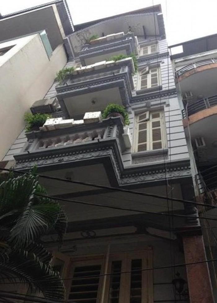 Bán nhà Hoàng Quốc Việt, Ô tô, Phân Lô, dt 52m2, 5 tầng, mặt tiền 5, giá chỉ 6.75 tỷ