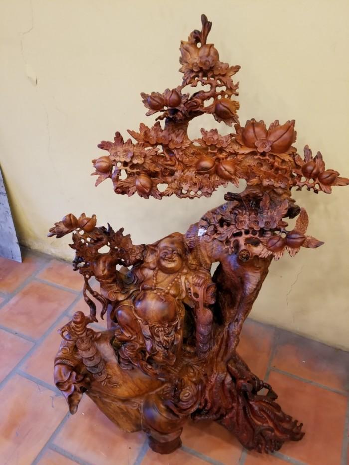 Di lặc thông thái dưới gốc đào gỗ hương Việt Nam4