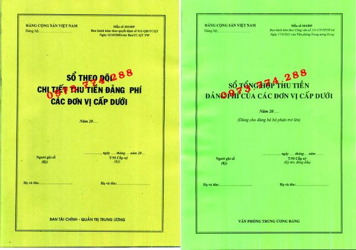 Bán các loại mẫu sổ S01, S02, S03, S04/ĐP Đảng phí3