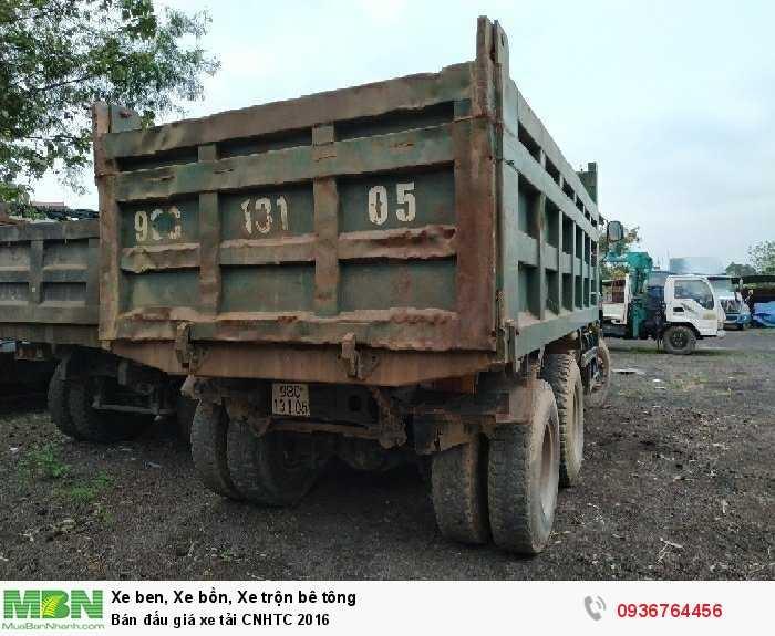Bán đấu giá xe tải CNHTC 2016