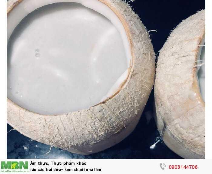 Râu câu trái dừa+ kem chuối nhà làm0