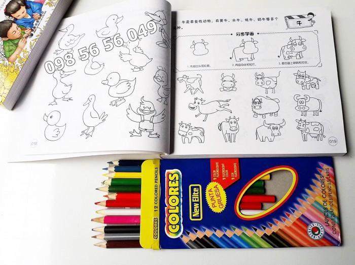 Tập Tô Màu 5000 Hình Vẽ + Hộp Chì Màu