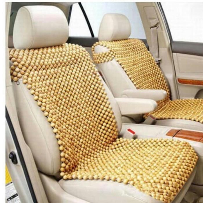 thảm lót ghế hạt gỗ